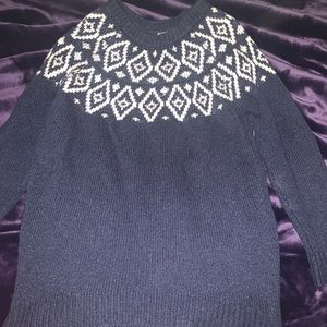 AERIE size small blue and white sweater